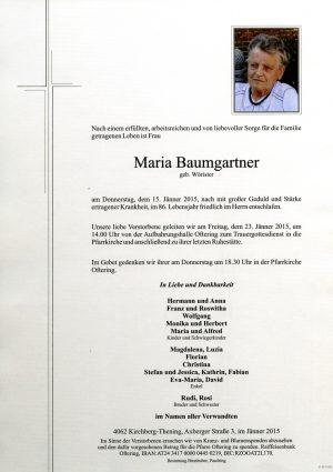 Portrait von Maria Baumgartner