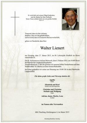 Portrait von Walter Lienert