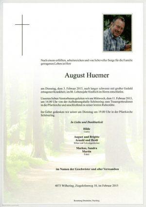 Portrait von August Huemer