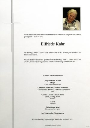 Portrait von Elfriede Kahr