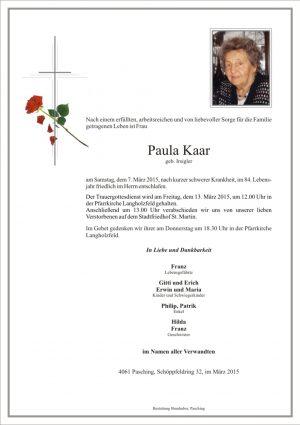 Portrait von Paula Kaar