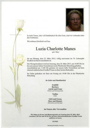 Portrait von Luzia Charlotte Manes