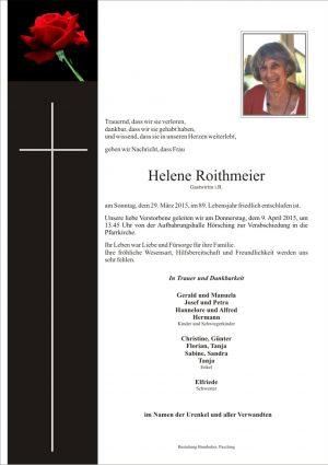 Portrait von Helene Roithmeier