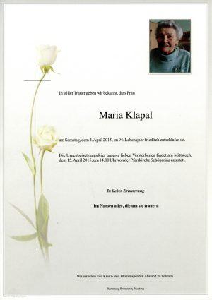 Portrait von Maria Klapal