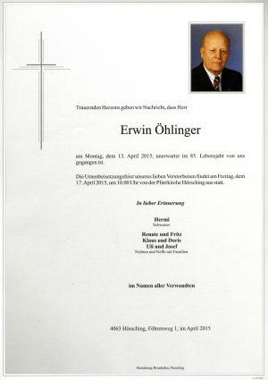 Portrait von Erwin Öhlinger