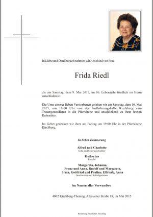 Portrait von Frida Riedl