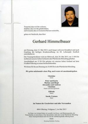 Portrait von Gerhard Himmelbauer