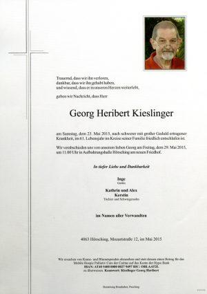 Portrait von Georg Heribert Kieslinger