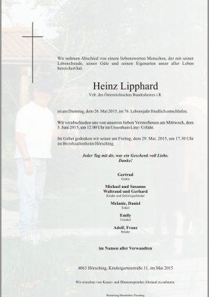 Portrait von Heinz Lipphard