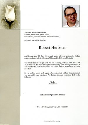 Portrait von Robert Herbster