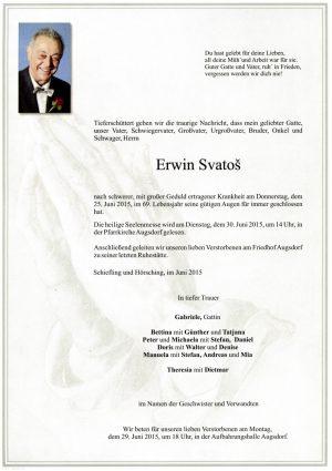 Portrait von Erwin Svatos