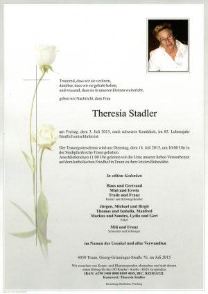 Portrait von Theresia Stadler