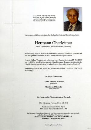 Portrait von Hermann Oberleitner