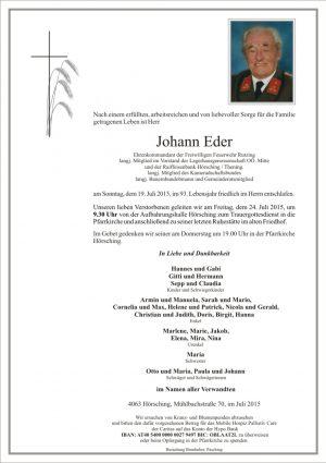 Portrait von Johann Eder