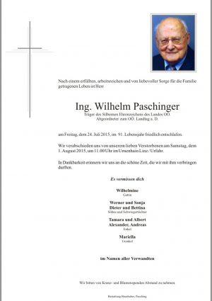 Portrait von Ing. Wilhelm Paschinger