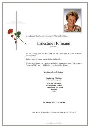 Portrait von Ernestine Hofmann