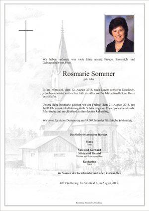 Portrait von Rosmarie Sommer