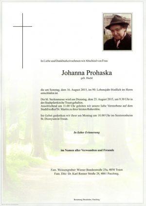 Portrait von Johanna Prohaska