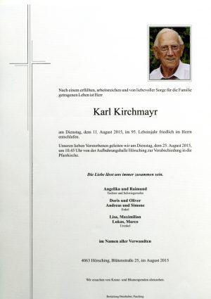 Portrait von Karl Kirchmayr