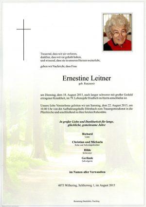 Portrait von Ernestine Leitner