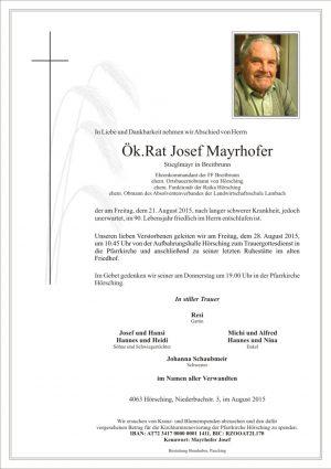 Portrait von Josef Mayrhofer