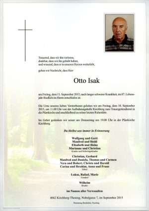 Portrait von Otto Isak
