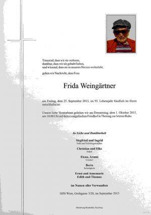 Portrait von Frida Weingärtner