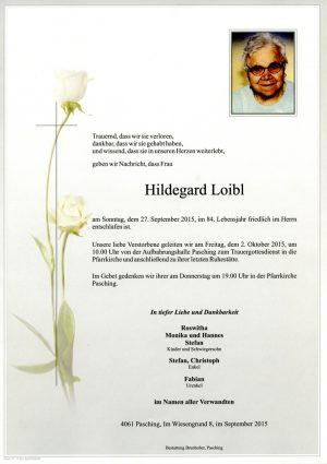 Portrait von Hildegard Loibl