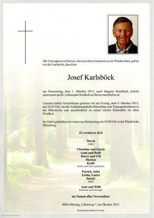 Portrait von Josef Karlsböck