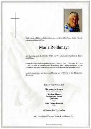 Portrait von Maria Roithmayr