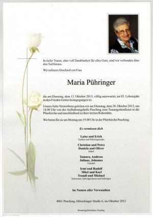 Portrait von Maria Pühringer