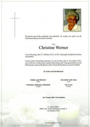 Portrait von Christine Werner