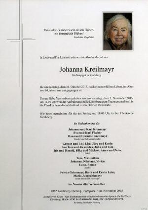 Portrait von Johanna Kreilmayr