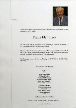 Portrait von Franz Flattinger