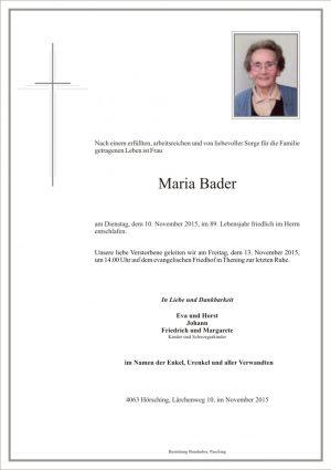 Portrait von Maria Bader