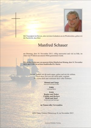 Portrait von Manfred Schauer