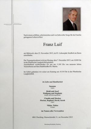 Portrait von Franz Luif