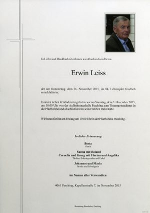 Portrait von Erwin Leiss