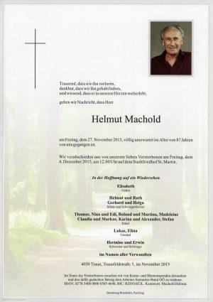 Portrait von Helmut Machold