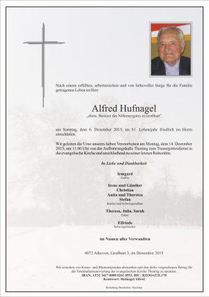 Portrait von Alfred Hufnagel