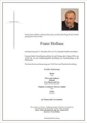 Portrait von Franz Hollaus