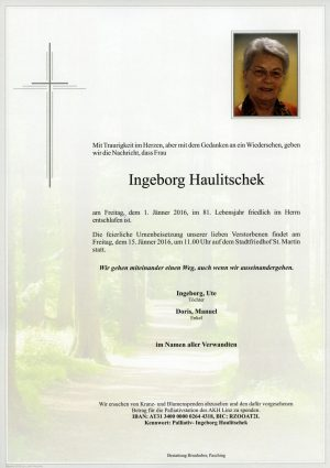 Portrait von Ingeborg Hauliteschek