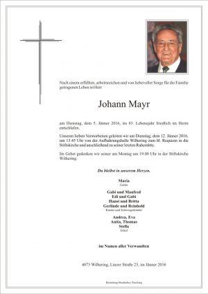 Portrait von Johann Mayr