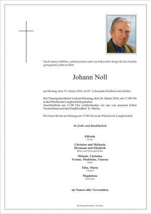 Portrait von Johann Noll