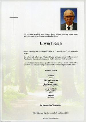 Portrait von Erwin Piesch