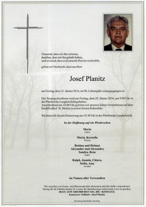 Portrait von Josef Planitz
