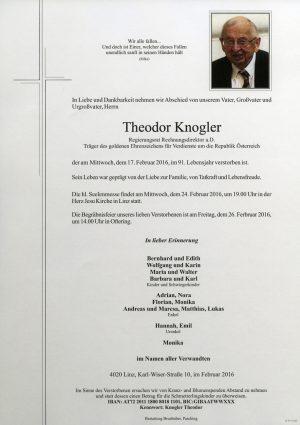 Portrait von Theodor Knogler