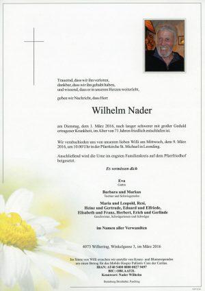 Portrait von Wilhelm Nader