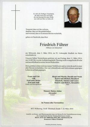 Portrait von Friedrich Führer