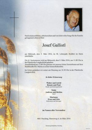 Portrait von Josef Gallistl